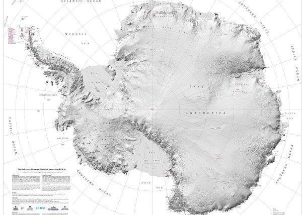 دقیق ترین و واضح ترین نقشه از قطب جنوب تهیه شد