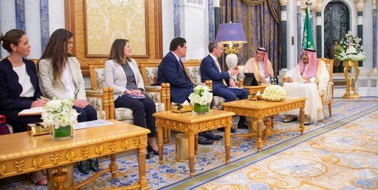 وزیر خارجه انگلیس با شاه سعودی ملاقات کرد