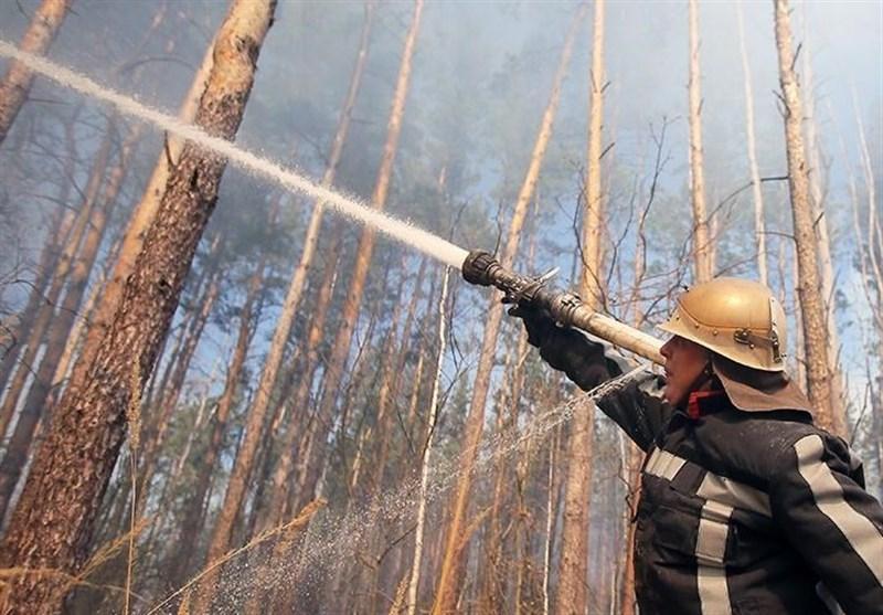 مهار آتش سوزی در منطقه نزدیک نیروگاه اتمی چرنوبیل اوکراین